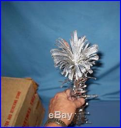 VTG Evergleam 6' silver Stainless aluminum Christmas tree WithOrg. Box
