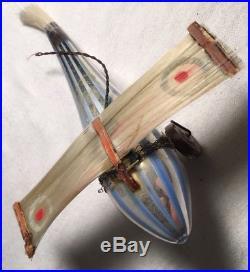 VTG Germany Fadenglas Bimini Airplane Plane Spun Glass Wings Xmas Tree Ornament