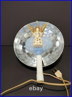 VTG HEAVENLY REFLECTING LIGHT CHRISTMAS TREE TOPPER IN BOX With SPINNER BRADFORD
