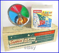 VTG SAPPHIRE BY REGAL SILVER 7 FT CHRISTMAS TREE With IMPERIAL COLOR WHEEL IN BOX