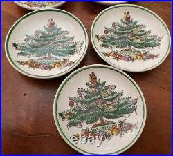 VTG Set of 5 Spode Christmas Tree 3 BUTTER PATS/TEA BAG HOLDER ENGLAND, Retired