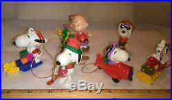 VTG Snoopy & PEANUTS 66 PCS & Lights Christmas Tree Ornaments Large & Small