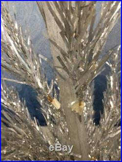 VTG Star Band Aluminum Sparkler 6' Christmas Tree Silver Tinsel w Original Box
