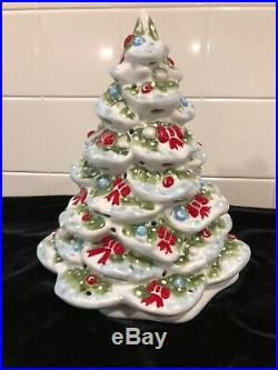 Villeroy Boch Vintage White Ceramic Christmas Tree Candle North Pole Germany