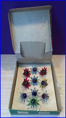 Vintage 10-WONDER STAR MATCHLESS CHRISTMAS TREE LIGHTS Model number 100