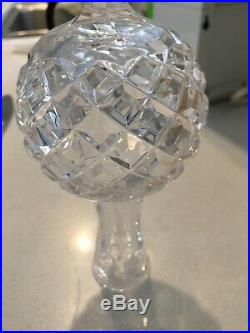 Vintage 10 Waterford Crystal Christmas Tree Topper Signed Etched Ornament