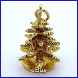 Vintage 14K Gold 3D Sloan & Co. Christmas Tree Charm 1930s