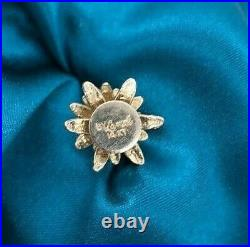Vintage 14K Yellow Gold 3D Christmas Xmas Tree With Star Charm Walter Lampl
