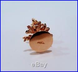 Vintage 14k Yellow Gold 3 Dimensional Christmas Tree Charm / Pendant