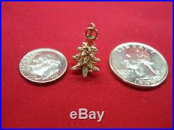 Vintage 14k Yellow Gold Christmas Tree Charm Very Nicely Detailed