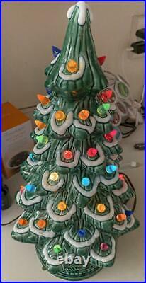 Vintage 16.5 Tall California Originals Ceramic Lighted Christmas Tree with Box