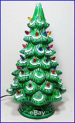 Vintage 16 Lighted Musical Ceramic Christmas Tree California Originals With Box