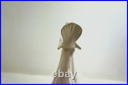 Vintage 17 WHITE Ceramic Christmas Tree with figural Dove / Bird candle holders