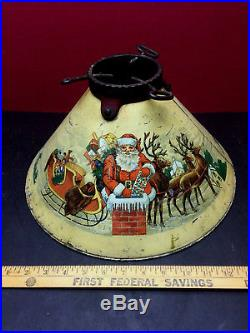 Vintage 1910 Santa Claus Christmas Tree Stand REDUCED