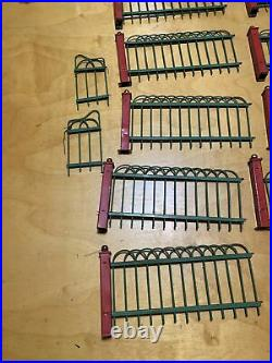 Vintage 1926 Sectional metal toy Christmas tree Fence no. 20 S & G Novelties K