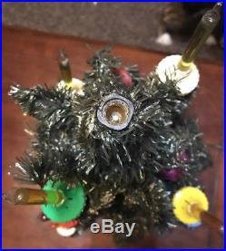 Vintage 1940s Royal Electric C6 11 Light Bubble Lights Christmas Tree