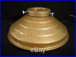 Vintage 1950's CHRISTMAS TREE STAND Gold Aluminum Revolving Musical Star Bell