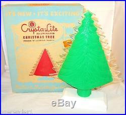 Vintage 1950's CRYSTA-LITE Illuminated Christmas Tree by ROYALITES Original Box