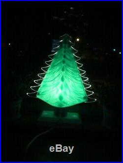 Vintage 1950's Royal Electric Co. Crysta-Lite Illuminated Christmas Trees (2)