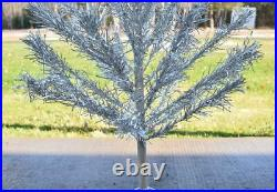 Vintage 1950s ALUMINUM CHRISTMAS TREE 48 4 feet tall CANADA pompom 31 branches