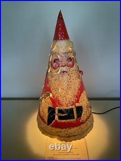 Vintage 1950s Econolite Santa Merrie Merrie Christmas Tree Motion Lamp Works