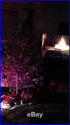 Vintage 1959 Aluminum Pine Christmas Tree 6 46 Branch With Colortone Color Wheel
