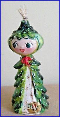 Vintage 1959 Holt Howard Mid Century Christmas Tree Girl Oil Burner 6-1/2 tall