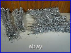 Vintage 1960's Aluminum Christmas Tree Taper Tree 7ft 96 Branch with Pom Poms