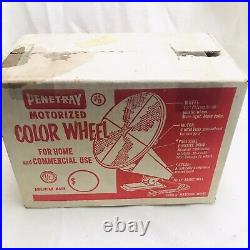 Vintage 1960's Penetray Motorized Lighted Color Wheel for Holiday Christmas Tree