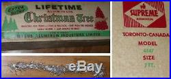 Vintage 1960's Suprem Model 4647 Aluminum Christmas Tree 7' Tall 144 Branches