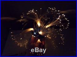 Vintage 1960s Deluxe FIBER OPTIC SUNBURST Christmas TREE TOPPER Sprays Lights