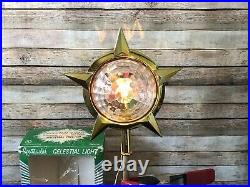 Vintage 1960s MCM Bradford Celestial Christmas Tree Topper WithBox Tested USA EUC