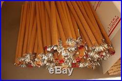 Vintage 1960s Peco 7' Aluminum Christmas Tree Stainless Steel Pom Pom 118 Branch
