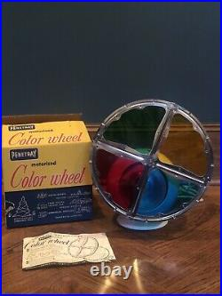 Vintage 1960s Penetray Deluxe Christmas 12 Color Wheel for Aluminum Tree