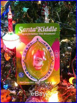Vintage 1968 Mattel Liddle Kiddles Santa Claus Christmas Tree Ornament Mint MOC