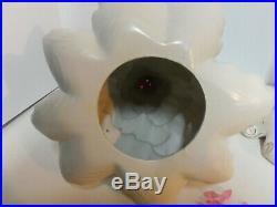 Vintage 1972 Atlantic Mold 19 White Ceramic Christmas Tree w Star & Bulbs WORKS