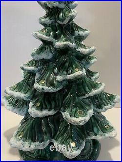 Vintage 1972 Ceramic Christmas Tree 20 ATLANTIC MOLD Original Music Box Base