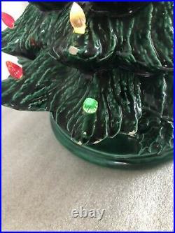Vintage 1978 Ceramic Christmas Tree Nowell's Mold 18 Works