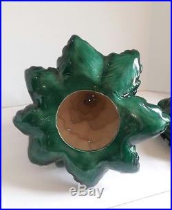 Vintage 1979 Ceramic Atlantic Mold Lighted Christmas Tree 24 x 16 Four Piece