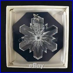 Vintage 1980's Retired Swarovski Crystal Snowflake Christmas Tree Ornament-box
