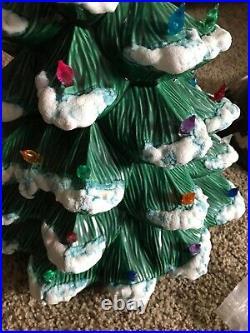 Vintage 1981 Large Ceramic Christmas Tree Cramer Mold 21 Tall Base 10.5