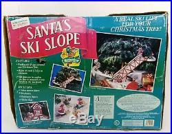 Vintage 1992 Mr. Christmas SANTA'S SKI SLOPE Animated Tree Decoration WITH BOX