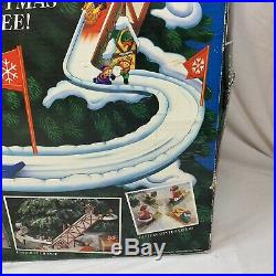 Vintage 1992 Mr Christmas Sants Ski Slope Tree Decoration Complete Tested