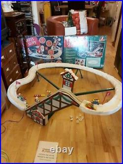 Vintage 1993 Boxed Mr Christmas Santa's Ski Slope + Instructions WORKING