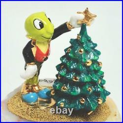 Vintage 1995 Ron Lee Disney Jiminy Cricket & Christmas Tree Figurine, Signed