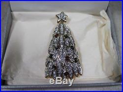 Vintage 1998 Signed Swarovski Christmas Tree Pin Brooch Jewelry