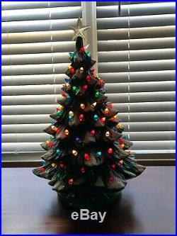 Vintage 20 High Ceramic Musical Christmas Tree