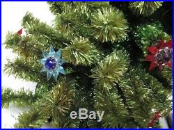 Vintage 20 Light C-6 Christmas Light Tree Full Of Old Matchless Stars