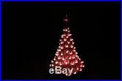 Vintage 20 Lighted Lava Ceramic Christmas Tree White/Gold Globe Pin Lights 1979