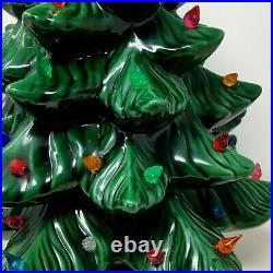 Vintage 21 Ceramic Lighted Christmas Tree 1970's